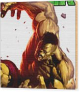 Hulk Wood Print