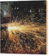 Hull Maintenance Technician Welds Scrap Wood Print