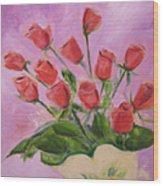 Hull Roses Wood Print