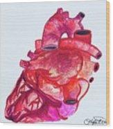 Human Heart Pa Wood Print