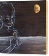 Human Spirit Moonscape Wood Print by Susan Moore