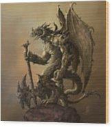Humanoid Dragon Wood Print