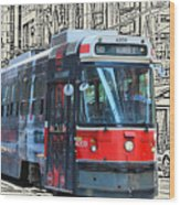 Humber Bound Streetcar On Queen Street Wood Print