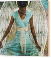 Humble Angel Wood Print