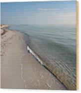 Humble Beach Wood Print