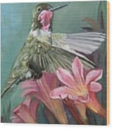 Humming Bird Anna Wood Print