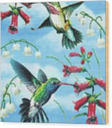 Humming Birds Wood Print by JQ Licensing