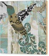 Hummingbird Batik Wood Print