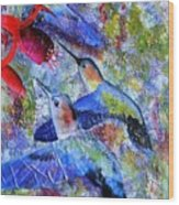 Hummingbird Joy Wood Print