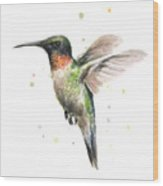 Hummingbird Wood Print