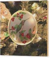 Hummingbird Ornament Wood Print