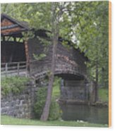 Humpback Covered Bridge In Covington Virginia Wood Print