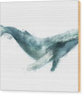 Humpback Whale From Whales Chart Wood Print