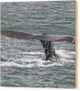 Humpback Whale Flute Alaska Wood Print