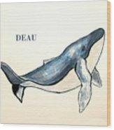 Humpback Whale Wood Print