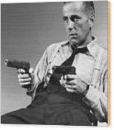 Humphery Bogart As Gangster Roy Earle High Sierra 1941 Wood Print