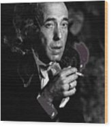Humphrey Bogart Portrait #2 Circa 1954-2014 Wood Print