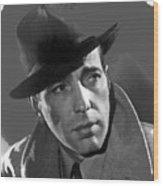 Humphrey Bogart Publicity Portrait Casablabca 1942-2016 Wood Print