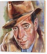 Humphrey Bogart Portrait Wood Print