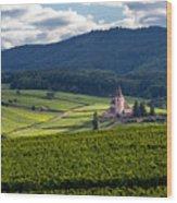 Hunawihr In The Vineyards Wood Print