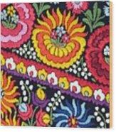 Hungarian Matyo Szentgyorgy Folk Embroidery Photographic Print Wood Print