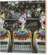 Hungry Clowns Wood Print