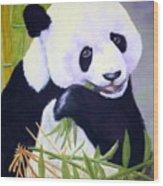 Hungry Panda Wood Print