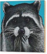 Hungry Raccoon Wood Print