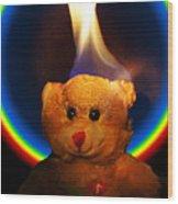 Hunk Of Burning Love Wood Print