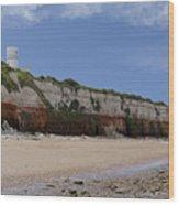 Hunstanton Cliffs Wood Print
