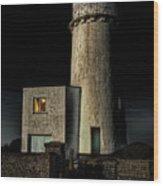 Hunstanton Lighthouse At Night Wood Print