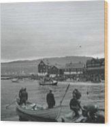 Hunt For Pilot Whales At Torshavn Wood Print