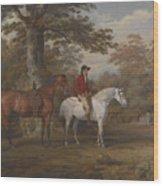 Hunter And Huntsman Wood Print
