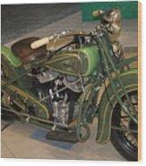 Hunter Green Indian Motorcycle...   # Wood Print