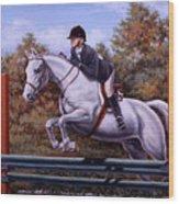 Hunter Pony Wood Print