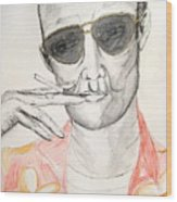 Hunter S. Thompson Wood Print