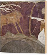 Hunting, 12th Century Wood Print