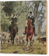 Hunting Dogs For Wild Boar Wood Print