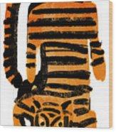 Hunting Tiger Wood Print