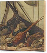 Hunting Trophies Wood Print by Claude Monet