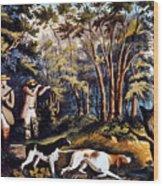 Hunting: Woodcock, 1852 Wood Print