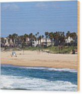 Huntington Beach California Wood Print by Paul Velgos