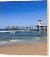 Huntington Beach Pier In Orange County California Wood Print