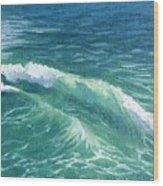 Huntington Small Waves  Wood Print