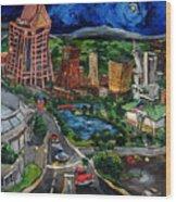 Huntsville Skyline Wood Print by Carole Foret