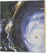 Hurricane Floyd Wood Print