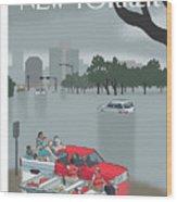 Hurricane Harvey Wood Print