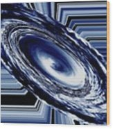 Hurricane In Space Abstract Wood Print