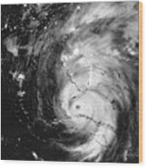 Hurricane Irma Infrared Wood Print