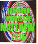 Hurricane Matthew Survivor Wood Print